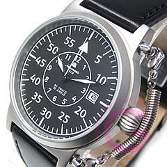 Aeromatic1912(エアロマティック1912)A1330自動巻きレトロパイロットリューズガードドイツミリタリーメンズウォッチ腕時計