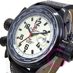 Tauchmeister1937(トーチマイスター1937)T0183ドイツミリタリーGMTU-Boatモデルクォーツメンズウォッチ腕時計