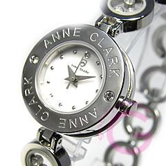 ANNE CLARK (アンクラーク) AT-1008-09/AT1008-09 ブレスタイプ ダイヤモンド シルバー レディースウォッチ 腕時計 【あす楽対応】