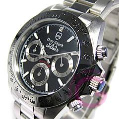DONCLARK(ダンクラーク)DM-2051-05/DM2051-05クロノグラフブラックメンズウォッチ腕時計