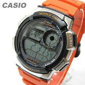 CASIO (カシオ) AE-1000W-4B/AE1000W-4B スポーツ ワールドタイム搭載 オレンジ キッズ・子供 かわいい! メンズウォッチ チープカシオ 腕時計 【あす楽対応】