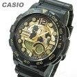 【メール便送料無料】CASIO (カシオ) AEQ-100BW-9A/AEQ100BW-9A テレメモ アナデジ ブラック×ゴールド キッズ・子供 かわいい! メンズウォッチ チープカシオ 腕時計
