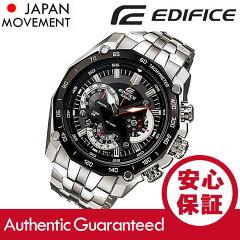 CASIOEDIFICE(カシオエディフィス)EF-550D-1A/EF550D-1Aクロノグラフメタルベルトブラックダイアルメンズウォッチ海外モデル腕時計
