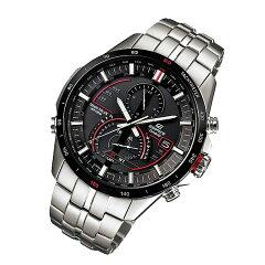 CASIOEDIFICE(カシオエディフィス)EQS-A500DB-1A/EQSA500DB-1Aタフソーラーワールドタイムメタルベルトメンズウォッチ海外モデル腕時計
