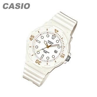 CASIO (CASIO) LRW-200H-7E2/LRW200H-7E2 sports gear military white / gold pair model ladies watch watches