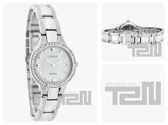 CITIZEN(シチズン)EX1360-50AEco-Drive/エコドライブSilhouette/シルエットストーン装飾メタルベルトシルバーレディースウォッチ腕時計
