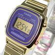 CASIO(カシオ) シンプルデジタル LA-670WGA-6/LA670WGA-6 ゴールド パープル キッズ・子供 かわいい! レディースウォッチ チープカシオ 腕時計 【あす楽対応】