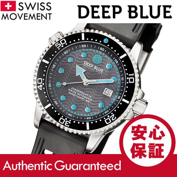 DEEP BLUE (ディープブルー) J4-GYBK JUGGERNAUT IV スイス製Sellita Sw-200ムーブメント 300m防水 ダイバーズ ラバーベルト グレーダイアル 腕時計:腕時計とアクセ&雑貨 GoodyOnline