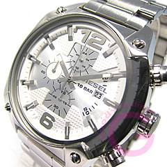 DIESEL (diesel) DZ4203 chronograph ビックケース 48 mm metal watch /SS