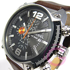 DIESEL (diesel) DZ4204 chronograph ビックケース 48 mm leather watch