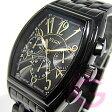 【正規品】ELGIN(エルジン) FK1215B-B クロノグラフ トノー オールブラック メンズウォッチ 腕時計