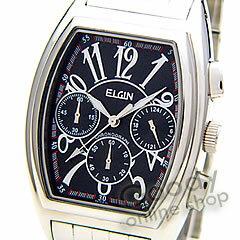 【正規品】ELGIN(エルジン)FK1215S-Bクロノグラフトノーブラックメンズ腕時計
