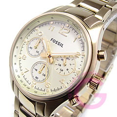 Metal belt chronograph gold watch FOSSIL ( fossil ) CH2791