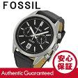 FOSSIL (フォッシル)CH2972DEL REY/デル レイ クロノグラフ レザーベルト ブラック×シルバー メンズウォッチ 腕時計