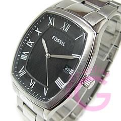 FOSSIL ( fossil ) FS4741 ANSEL / Ansel tonneau metal belt black casual men's watch