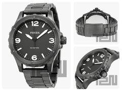 FOSSIL(フォッシル)JR1457Nate/ネイトメタルベルトブラックメンズウォッチ腕時計【_包装選択】