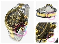 J.HARRISON(ジョンハリソン)JH-003GBKフルスケルトン自動巻きメンズウォッチ腕時計