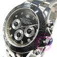 J.HARRISON(ジョンハリソン) JH-014DS 自動巻き ダイヤモンド8P シルバー メンズウォッチ 腕時計