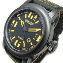 【世界限定生産】 LUM-TEC/LUMTEC(ルミテック) 600M-4 Abyssシリーズ 日本製 Miyota 9015自動巻きムーブメント搭載 600M防水 レザーベルト ブラック×オレンジ 腕時計