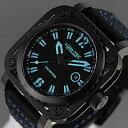 【世界限定生産】 LUM-TEC/LUMTEC(ルミテック) G6 Gシリーズ ロンダクォーツ搭載 チタンカーバイドPVD レザーベルト ブルー メンズウォッチ 腕時計
