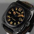 【世界限定生産】 LUM-TEC (ルミテック) G7 Gシリーズ ロンダクォーツ搭載 チタンカーバイドPVD レザーベルト オレンジ メンズウォッチ 腕時計
