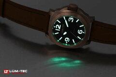 LUM-TEC(ルミテック)M53Mブロンズ自動巻き日本ムーブメント搭載替えベルト付きブラックダイヤルメンズウォッチ腕時計