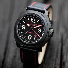LUM-TEC(ルミテック)M59Mクォーツロンダクォーツ搭載替えベルト付きチタンカーバイドPVDレッドステッチメンズウォッチ腕時計