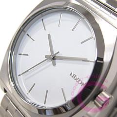 NIXON THE TIME TELLER (Nixon time teller p) A045-100/A045100 SS white men's watch