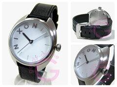 NIXON(ニクソン)A318-100/A318100THEWIT/ウィットレザーベルトブラック×シルバーレディースウォッチ腕時計