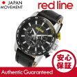 RED LINE(レッドライン) 300-01-YA-BB Fastrack/ファストトラック クロノグラフ ラバーベルト ブラック×イエロー メンズウォッチ 腕時計