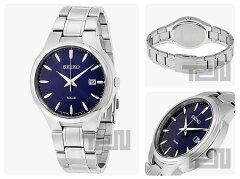 SEIKO(セイコー)SNE403SOLAR/ソーラーメタルベルトブルーダイアルメンズウォッチ腕時計