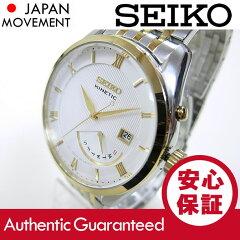 SEIKO(セイコー)SRN056KineticSport/キネティックスポートゴールド×シルバーツートーンメタルベルトメンズウォッチ腕時計