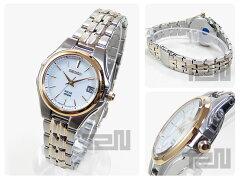 SEIKO(セイコー)SOLAR/ソーラーSUT038ゴールド×シルバーコンビメタルベルトレディースウォッチ腕時計