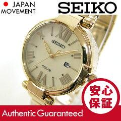 SEIKO(セイコ)SUT176SOLAR/ソーラーゴールドメタルベルトレディースウォッチ腕時計