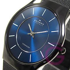 SKAGEN(スカーゲン) 233LTMN ウルトラスリム チタン メッシュ ブラック メンズウォッチ 腕時計 ...