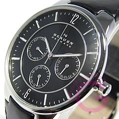 Multifunction Leather Belt Black Watch SKAGEN ( Skagen ) 331 XLSLB