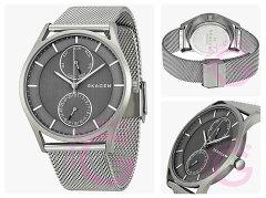 SKAGEN(スカーゲン)SKW6172Holst/ホルストスリムマルチファンクションカレンダーステンレスメッシュベルトグレーダイアルメンズウォッチ腕時計