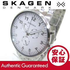 SKAGEN(スカーゲン)SKW6231ANCHER/アンカークロノグラフステンレスベルトホワイトダイアルメンズウォッチ腕時計腕時計