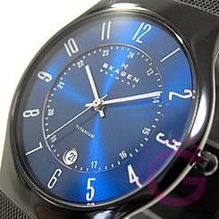 SKAGEN (Skagen) T233XLTMN ultra-slim titanium mesh men's watch