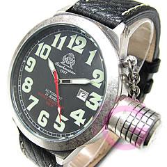 Tauchmeister1937(トーチマイスター1937)T0054レトロダイバーズモデル500m防水レザーベルトメンズウォッチ腕時計