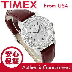 TIMEX(タイメックス)T2P399STARLIGHT/スターライトクリスタル装飾レザーベルトシルバーレディースウォッチ腕時計