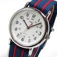 【メール便送料無料】TIMEX (タイメックス) T2N747 Weekender/ウィークエンダー セントラルパーク フルサイズ ブルー×レッド ミリタリー メンズウォッチ 腕時計【あす楽対応】