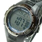 【メール便送料無料】TIMEX (タイメックス) T5K359 Marathon/マラソン デジタル ラバーベルト ブラック×ブルー メンズウォッチ 腕時計