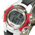 TIMEX (タイメックス) T5K807 Marathon/マラソン デジタル ラバーベルト レッド×シルバー レディースウォッチ 腕時計