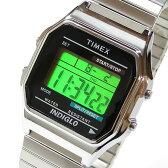 【メール便送料無料】Timex (タイメックス) T78582 デジタル 蛇腹ベルト T78587のUS XLサイズベルト シルバー ユニセックスウォッチ 腕時計