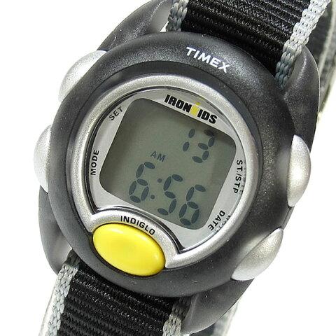 【メール便送料無料】Timex (タイメックス) T7B981 IRONKIDS/アイアンキッズ クロノグラフ デジタル ナイロンベルト ブラック キッズ・子供にオススメ! かわいい! キッズウォッチ 腕時計 【あす楽対応】