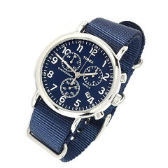 TIMEX(タイメックス)TW2P71300Weekender/ウィークエンダーセントラルパーククロノグラフミリタリーナイロンベルトブルーダイアルメンズウォッチ腕時計