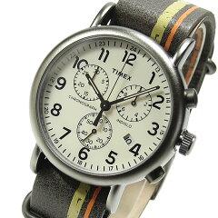TIMEX(タイメックス)TW2P78000Weekender/ウィークエンダーセントラルパークフルサイズクロノグラフレザーベルトブラウンメンズウォッチ腕時計