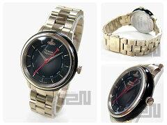 VivienneWestwood(ヴィヴィアン・ウエストウッド)VV158BKGDメタルベルトゴールド×ブラックビビアンレディースウォッチ腕時計