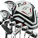 バック付属なし ワールドイーグル F-01α メンズ13点ゴルフクラブセットフレックス 左用【WORLD EAGLE】【初心者 初級者 ビギナー】【あす楽】